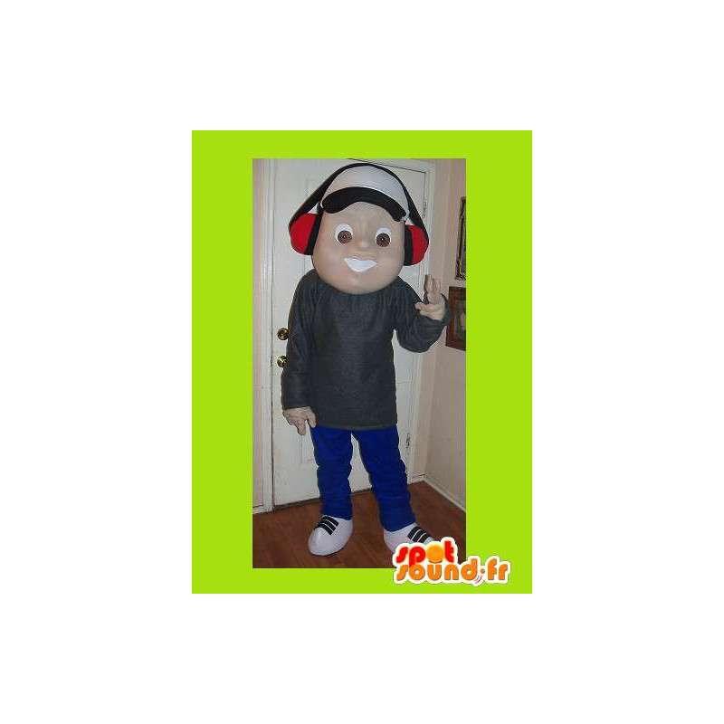 Mascot av en ung musikk fan, tenåring forkledning - MASFR002214 - Maskoter gutter og jenter
