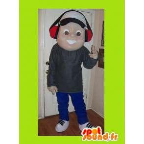 Mascot van een jonge muziekfan, tiener vermomming - MASFR002214 - Mascottes Boys and Girls