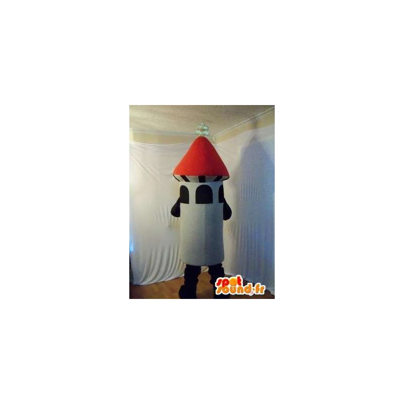 Mascot representing a rocket fireworks - MASFR002219 - Mascots of objects