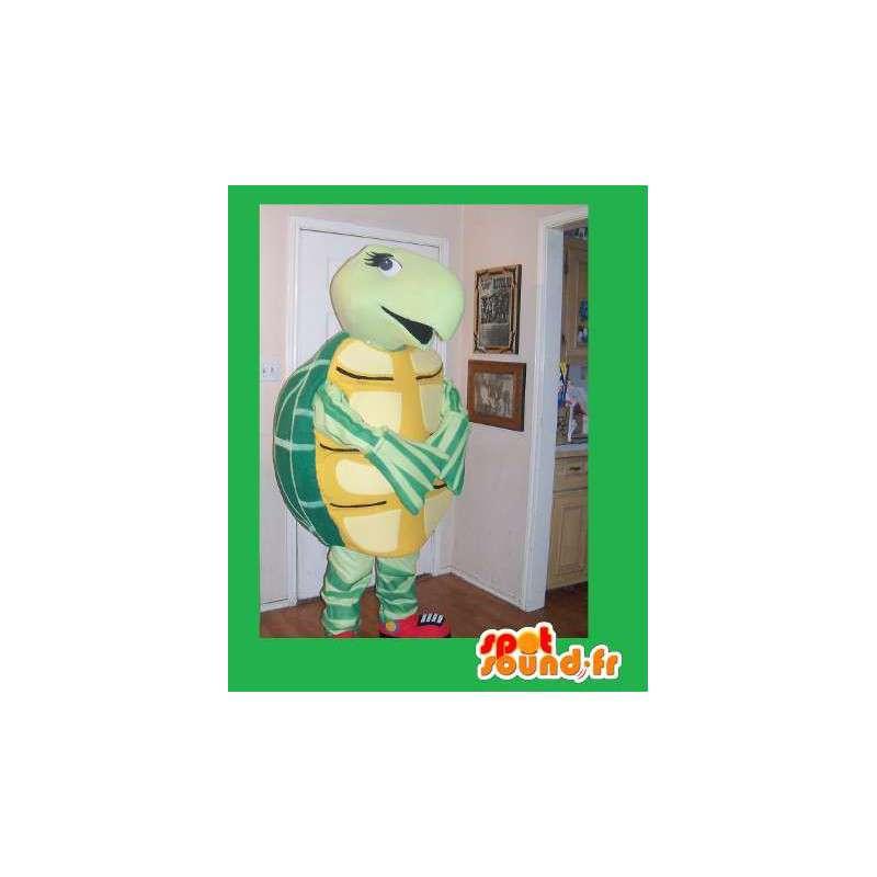 Zamaskovat žluté a zelené želva kostým pro domácí zvíře - MASFR002221 - želva Maskoti