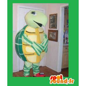 Turtle costume yellow and green costume for pet - MASFR002221 - Mascots turtle