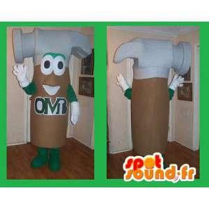 Hammer-shaped mascot costume handyman