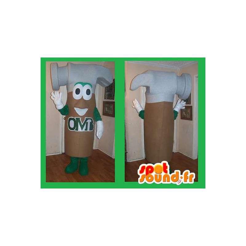 Hammer-vormige mascotte kostuum klusjesman - MASFR002223 - mascottes objecten