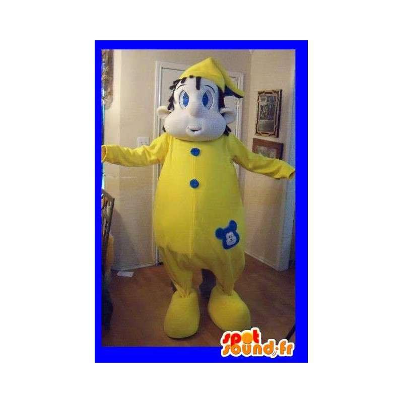 Mascot representing a child in pajamas, costume dodo - MASFR002226 - Mascots child
