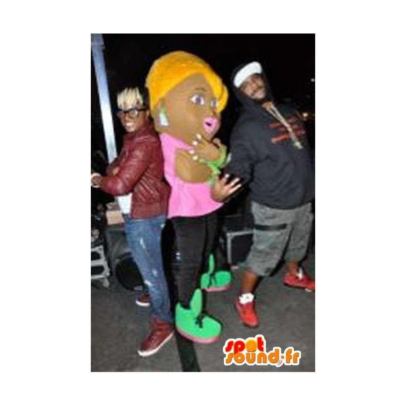 Representing a shopgirl mascot costume nightclub - MASFR002229 - Mascots boys and girls