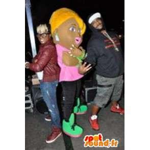Mascot wat neerkomt op een shopgirl kostuum nachtclub - MASFR002229 - Mascottes Boys and Girls