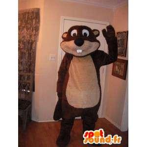 Mascot representerer en bever, tømmerhugger drakt.