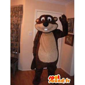 Representing a beaver mascot costume lumberjack. - MASFR002231 - Beaver mascots