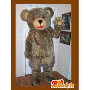 Mascot gevulde teddy, bruine beer kostuum