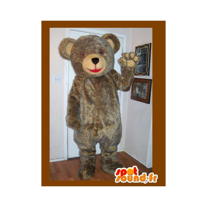 Plush mascot bear, brown bear costume - MASFR002232 - Bear mascot