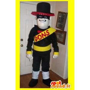 Mascot wat neerkomt op een gemaskerde held, Mexicaanse kostuum