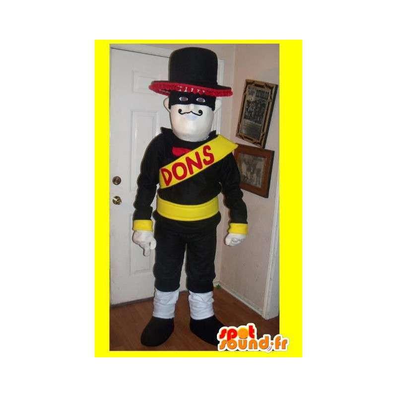 Mascot representerer en maskert helt, meksikansk drakt - MASFR002233 - superhelt maskot