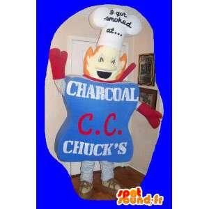 Stellvertretend für eine Koch-Maskottchen-Kostüm-Shop - MASFR002239 - Menschliche Maskottchen