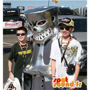 Mechanische monster mascotte kostuum renbaan