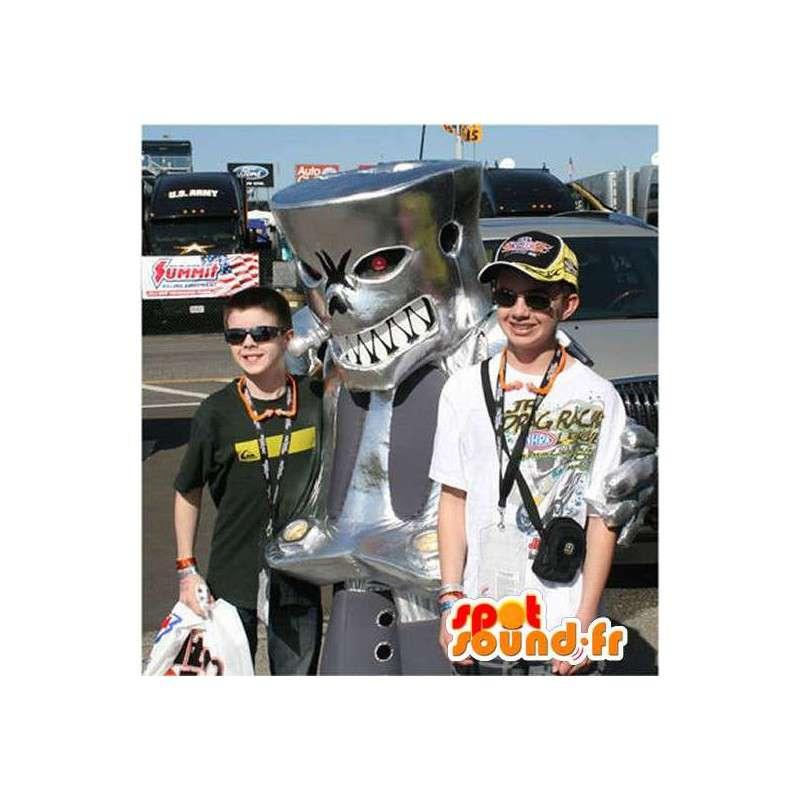 Mekaaninen hirviö maskotti puku raviradalla - MASFR002241 - Mascottes de monstres