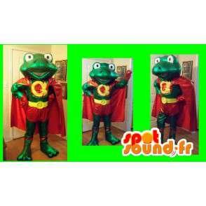 Maskot super frosk superhelt drakt - MASFR002242 - Frog Mascot