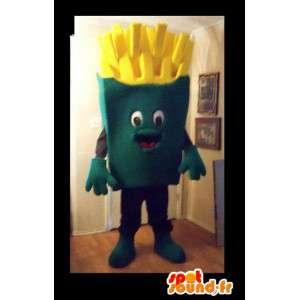 Mascote em forma de batatas fritas, disfarce restauração