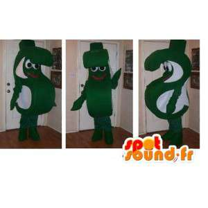 Mascota de las letras S, clip traje