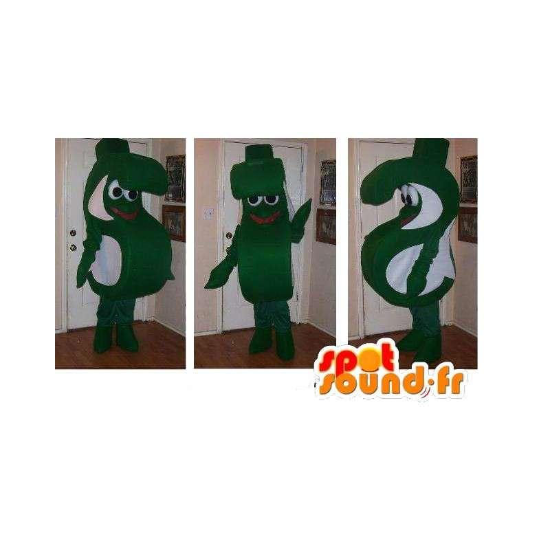 Brev-formet maskot S, wire forkledning - MASFR002245 - Ikke-klassifiserte Mascots