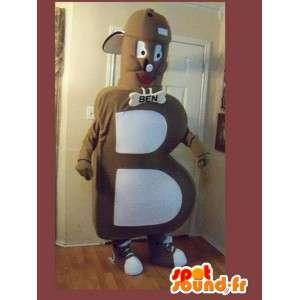 Mascot vormige letter B alfabet vermomming