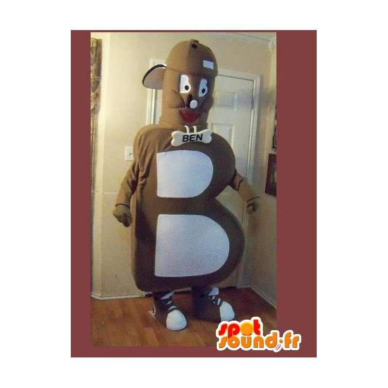Mascot vormige letter B alfabet vermomming - MASFR002247 - Niet-ingedeelde Mascottes