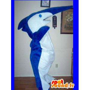 Mascot representando un pez disfraz de tiburón sierra
