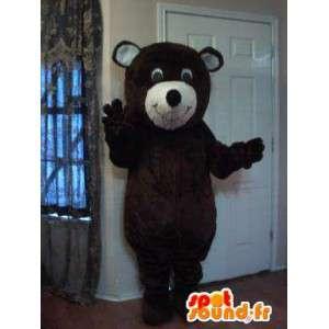 Mascot representing a bear brown bear costume