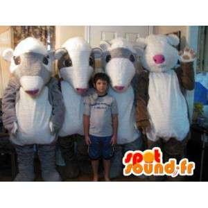 Quarteto mascote cobaias, quatro disfarce - MASFR002252 - mascotes porco