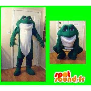 Mascot representerer en frosk, frosken kostyme