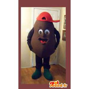 En representación de una patata de la mascota del traje de la patata