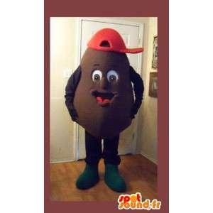 Maskot som representerar en potatis, potatisförklädnad -