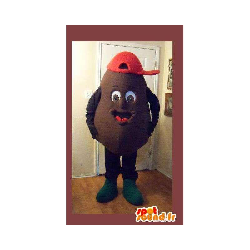 Mascot representing a potato, potato disguise - MASFR002257 - Mascot of vegetables