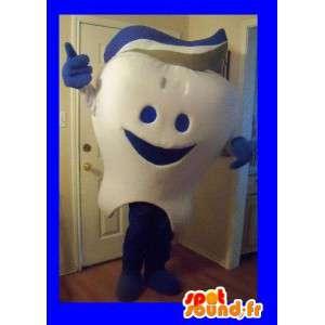 Hammas Mascot yllään hammastahnaa, hammas naamioida