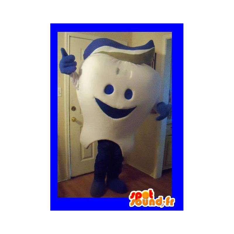 Tooth Mascot iført tannkrem, tann forkledning - MASFR002258 - Fairy Maskoter