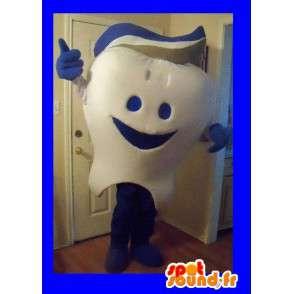 Hammas Mascot yllään hammastahnaa, hammas naamioida - MASFR002258 - keiju Maskotteja