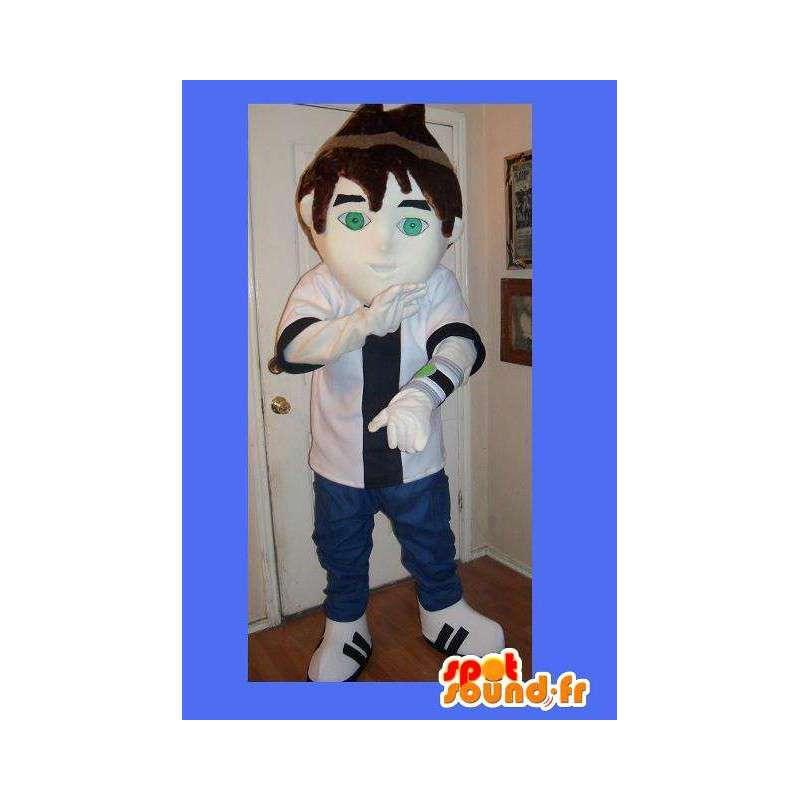トレンディなスタイルで若者を代表するマスコット - MASFR002259 - マンマスコット