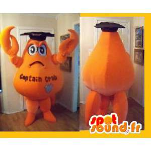 Representing a crab mascot orange costume graduate