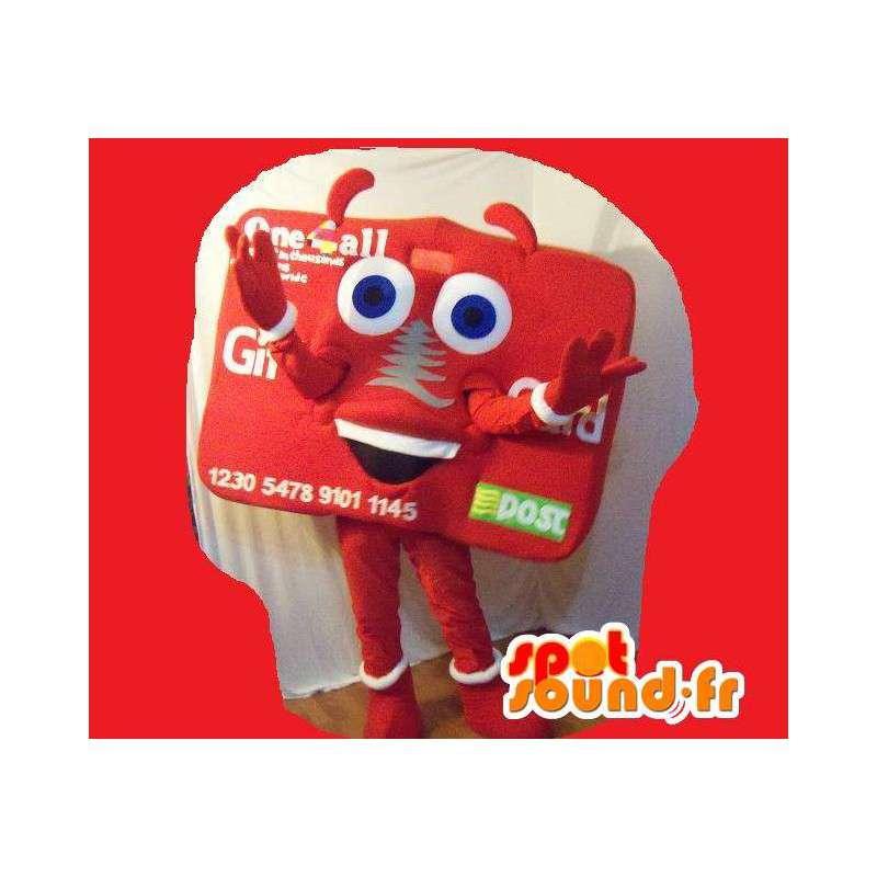 Maskotti edustaa käyntikortti, kortti naamioida - MASFR002268 - Mascottes d'objets