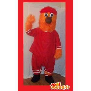 Mascotte de boule de poils en tenue sport, déguisement de sportif - MASFR002270 - Mascotte sportives