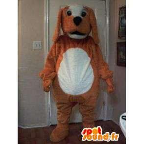 Maskotti edustaa täytetty koira, koira puku - MASFR002271 - koira Maskotteja