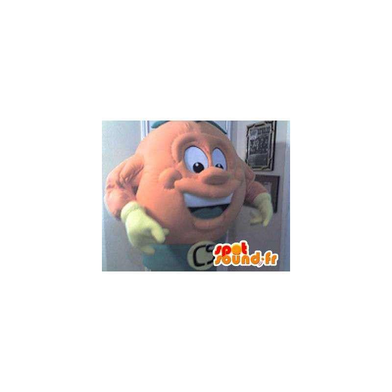 Mascotte représentant une tête en forme de boule, déguisement rond - MASFR002272 - Mascottes non-classées