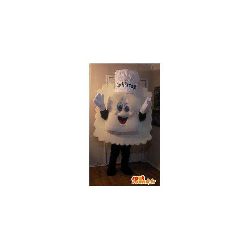 Mascot representerer en ravioli-lignende kokk - MASFR002273 - Man Maskoter