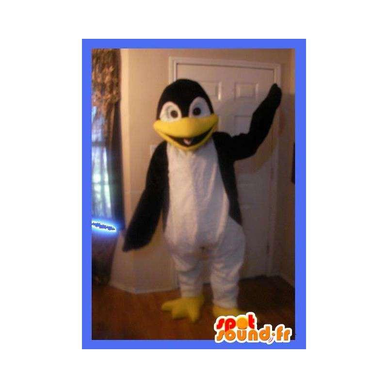 Representing a penguin mascot costume sea ice - MASFR002276 - Penguin mascots