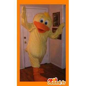 Mascot representerer en gul and, vannfugler forkledning