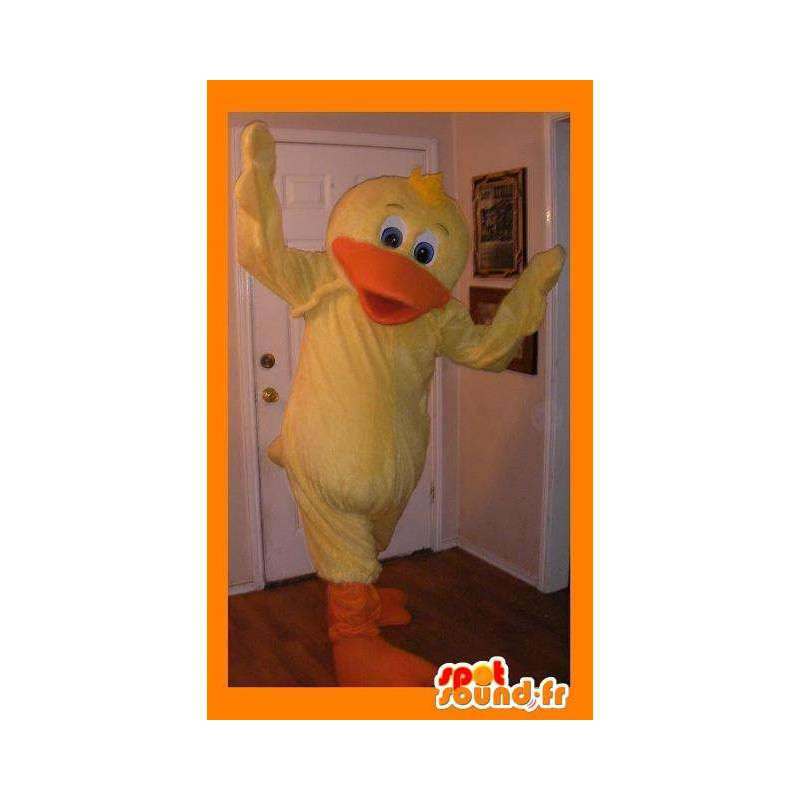 Mascot representing a yellow duck, waterfowl disguise - MASFR002277 - Ducks mascot