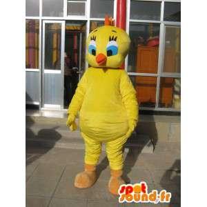 Maskotka głowy - Canary Żółty - Cartoon Tweety i Sylvester