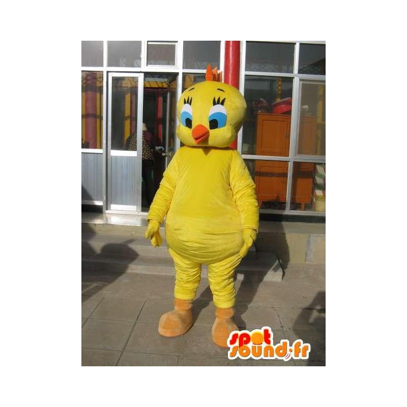 Maskotka głowy - Canary Żółty - Cartoon Tweety i Sylvester - MASFR00180 - Maskotki TiTi i Sylvester