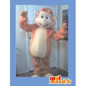 Mascot wat neerkomt op een aap, leuke vermomming - MASFR002280 - Monkey Mascottes