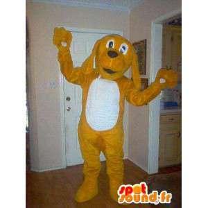 Representing a mascot puppy, cocker costume