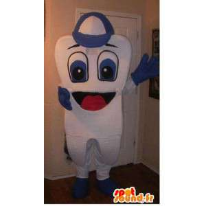 Mascot av tann, tann hetten i forkledning - MASFR002287 - Ikke-klassifiserte Mascots